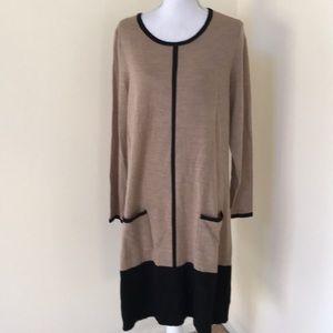 New! Cynthia Rowley 1X merino wool sweater dress